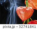 ホオズキと線香の煙り 32741841