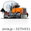 四輪車 自動車 ミキサーのイラスト 32754551