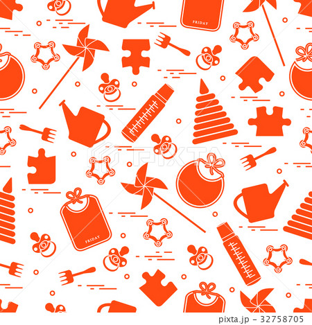 pattern with variety children's goods and toys 32758705