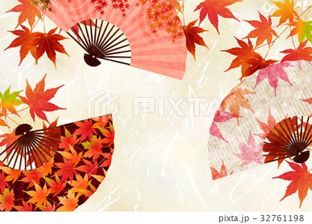 紅葉 秋 和紙 背景 のイラスト素材 [32761198] - PIXTA