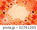 紅葉 秋 菊のイラスト 32761203