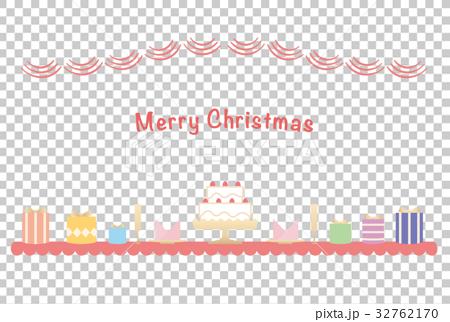 カード素材-クリスマス2 32762170