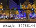 銀杏並木 街並み ライトアップの写真 32766144
