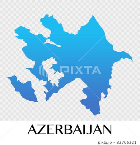 Azerbaijan map in Asia continent illustrationのイラスト素材 [32766321] - PIXTA