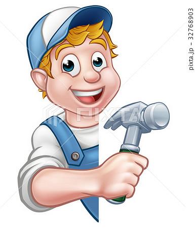 Builder or Carpenter Handyman Construction Worker 32768903