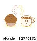 チョコマフィン カフェラテ キャラクターのイラスト 32770362