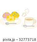 マフィン ミルクティー 秋のイラスト 32773718