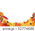 秋の紅葉 フレーム素材 32774686