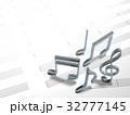 音楽 音符 音譜のイラスト 32777145