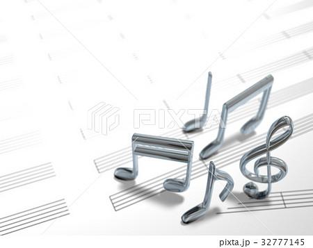 五線譜と音譜イメージ 32777145