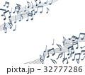 五線譜と音譜イメージ切り抜き 32777286