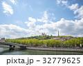 ソーヌ川 ノートルダム大聖堂 夏の写真 32779625