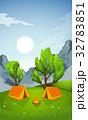 ベクトル 山 キャンプのイラスト 32783851
