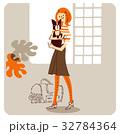 女性と犬1 32784364