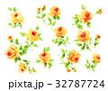 小花柄 バラ 水彩のイラスト 32787724