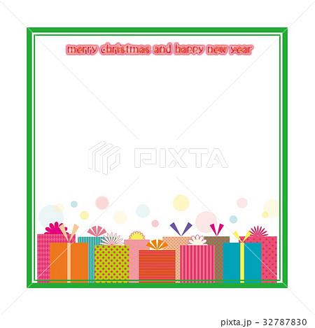 プレゼント フレーム メリークリスマス ハッピーニューイヤー 32787830
