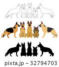犬 シェパード グループのイラスト 32794703