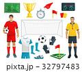 サッカー スポーツ ゲームのイラスト 32797483