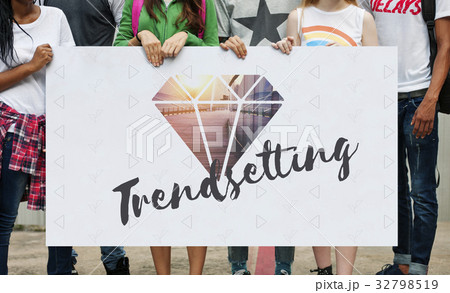 Trends Diamond Fashion New Wordの写真素材 [32798519] - PIXTA