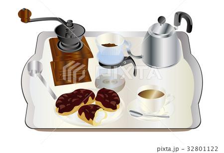 今日のスイーツコーヒーとエクレア 32801122