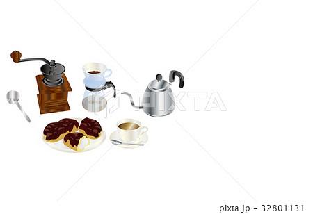 今日のスイーツコーヒーとエクレア 32801131