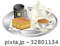 今日のスイーツ紅茶とカステラ 32801134