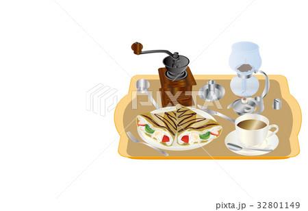 今日のスイーツコーヒーとクレープ 32801149