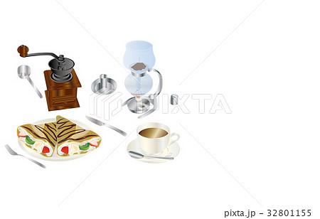 今日のスイーツコーヒーとクレープ 32801155