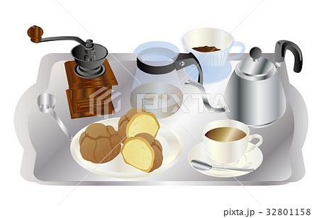 今日のスイーツコーヒーとシュークリーム 32801158