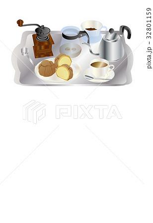 今日のスイーツコーヒーとシュークリーム 32801159