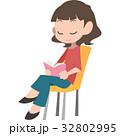 読書 女性 本のイラスト 32802995