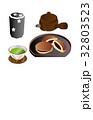 今日のスイーツ緑茶とどら焼き 32803523