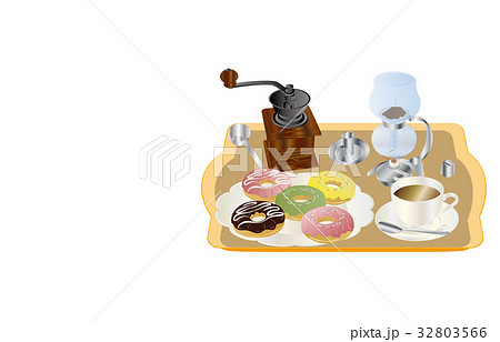 今日のスイーツコーヒーとドーナツ 32803566