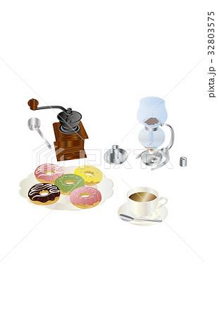 今日のスイーツコーヒーとドーナツ 32803575