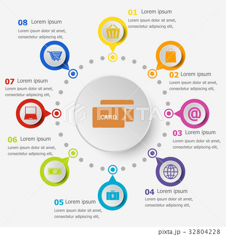 Infographic template with ecommerce icons 32804228