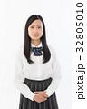 女子高生 制服 笑顔の写真 32805010