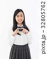 女子高生 高校生 制服の写真 32805762