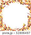 秋の紅葉植物のフレーム素材 32806497