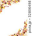 秋の紅葉植物のフレーム素材 32806498