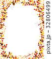 秋の紅葉植物のフレーム素材 32806499