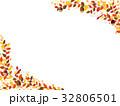 秋の紅葉植物のフレーム素材 32806501