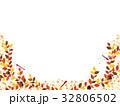 秋の紅葉植物のフレーム素材 32806502