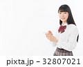 女子高生 女性 制服の写真 32807021