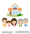 三世代 3世代家族 家族のイラスト 32809036