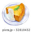 水彩イラスト 食品 パンプキンケーキ 32810432