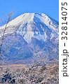 富士山 世界遺産 雪山の写真 32814075