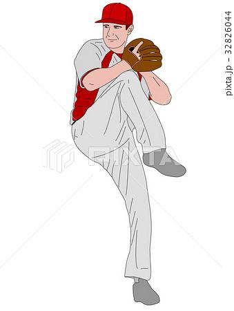 baseball pitcher detailed illustration 32826044