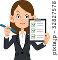 ビジネスウーマン チェックリスト 確認 32827578