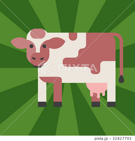 Cow farm animal character vector illustration 32827703