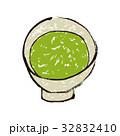 抹茶 茶道 水彩画のイラスト 32832410